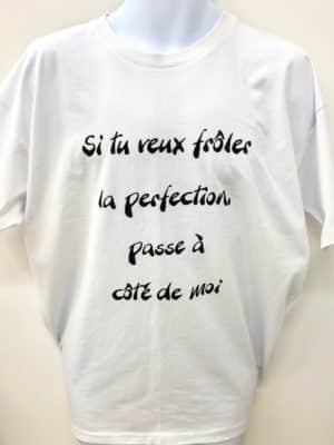 T-shirt : Si tu veux frôler la perfection, passe à côté de moi